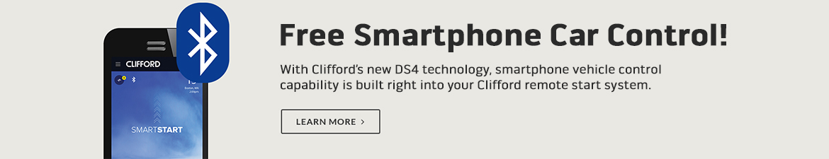 Free Smartphone Car Control with Clifford's new DS4 technology!